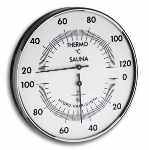 Sauna-Thermo-Hygrometer, Ø 132mm